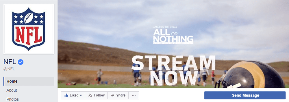 Facebook Cover Video Inspiration NFL