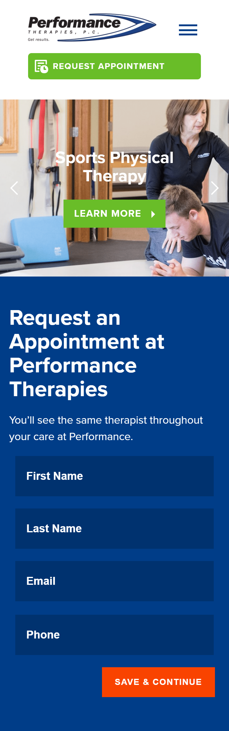 Performance therapies mobile